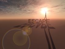 Escape Desolate Space Royalty Free Stock Photo