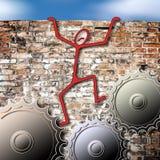 Escape do esforço diário ilustração stock