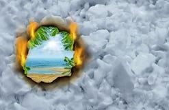 Escape do inverno ilustração royalty free