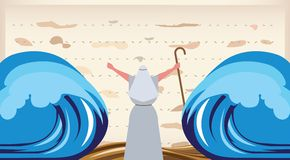 The Escape from Egypt. Passover invitation. Let my people go-The Escape from Egypt stock illustration