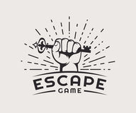 Escape game logo. Vector badge on a white background royalty free illustration