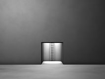 Escape hatch from the dim room Royalty Free Stock Image