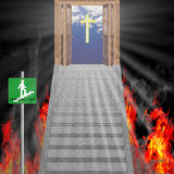 Escape from hell vector illustration