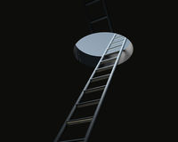 Ladder through ceiling Stock Photos