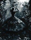Escape a la novia Drácula fotografía de archivo libre de regalías