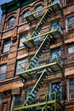 Escape Ladder. Fire Escape Ladder in New York City Stock Image