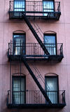Escape ladder. New York Building with escape stair Stock Images