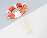 Escape ladder Stock Image