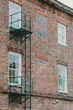 Escape Ladder on Brick Building Royalty Free Stock Photo