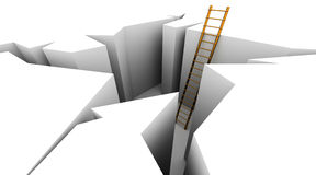 Escape on ladder Royalty Free Stock Images