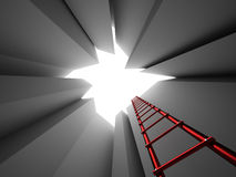 Escape on ladder Stock Photography