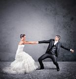 Escape from marriage Stock Image