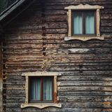 Escape in nature. Bukovina  house architecture Royalty Free Stock Images
