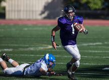 Escape. NORCAL Lions Club All Star Football Team action in Oroville, California Stock Images