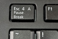 Escape for a Pause Break keyboard key Royalty Free Stock Photography