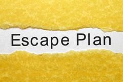 Escape plan Royalty Free Stock Images