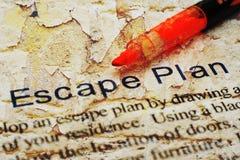 Escape plan. CLose up of Escape plan Stock Photos