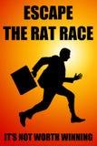 Escape rat race Stock Photography