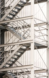 Escape route via exterior metal staircase Stock Photos