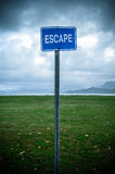 Escape Sign Royalty Free Stock Images