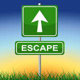 Escape Sign Represents Get Away And Arrow Royalty Free Stock Photos