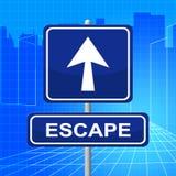 Escape Sign Represents Get Away And Arrows Stock Photos