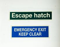 Escape signs Royalty Free Stock Image