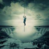 Escape sobre la cascada Fotografía de archivo libre de regalías