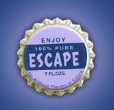 Escape Themed Bottlecap. A photo of an escape themed bottle cap Stock Images