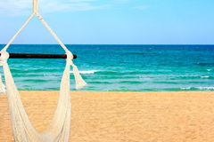 Escape to Mexico. A beautiful landscape view of the Sea of Cortez and an inviting hammock Stock Photography