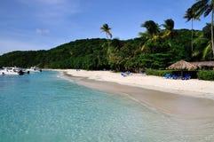 Escape to Palomino. Tropical beach of Palomino island in Puerto Rico Stock Photos