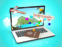 Escape to paradise. Travel concept vector illustration