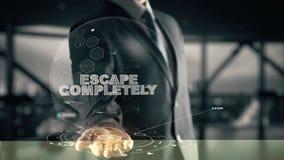Escape totalmente con concepto del hombre de negocios del holograma imágenes de archivo libres de regalías
