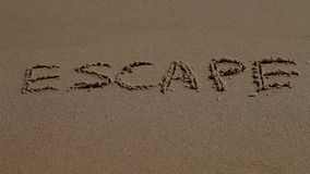 Escape, word, sand, sea, coast