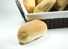 Escaped breadroll Royalty Free Stock Photography