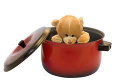 Escaped teddy-bear Stock Image
