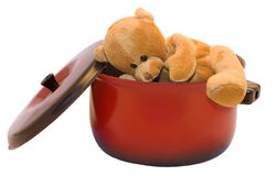 Escaped teddy-bear Stock Photography