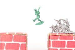Escapes verdes del hombre del ejército Imagen de archivo