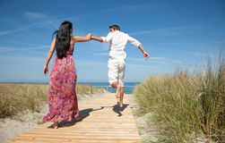 Escaping love together Royalty Free Stock Image