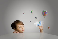 Escaping from reality Royalty Free Stock Image
