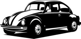Escarabajo blanco y negro de volkswagen ilustración del vector