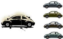 Escarabajo de Volkswagen ilustración del vector
