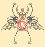 Escarabajo del tatuaje de la vendimia Imagenes de archivo
