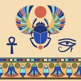 escarabajo Iconos egipcios Fotografía de archivo libre de regalías