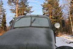 Escarcha en el coche Fotos de archivo libres de regalías