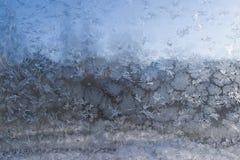 Escarcha y modelos de los copos de nieve Imagen de archivo libre de regalías