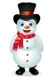 Escarchado el muñeco de nieve ilustración del vector