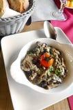 Escargot - σαλιγκάρι & σαλάτα χορταριών Στοκ φωτογραφία με δικαίωμα ελεύθερης χρήσης