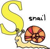 escargot animal de l'alphabet s Photographie stock