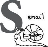 escargot animal de l'alphabet s Photographie stock libre de droits